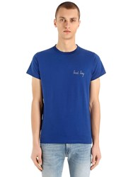 Maison Labiche Bad Boy Heavy Cotton Jersey T Shirt Blue