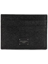 Dolce And Gabbana Logo Patch Cardholder Black