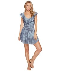 Blue Life Luna Ruffle Smock Romper Sage Gray Women's Jumpsuit And Rompers One Piece