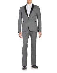 Tallia Orange Mason Collection Slim Fit Shawl Lapel Jacket
