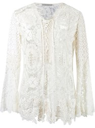 Martha Medeiros Lace Tunic White
