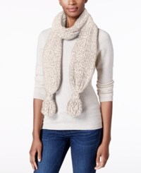 Charter Club Velvety Tassel Chenille Scarf Only At Macy's Ivory