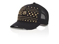 Gucci Men's Studded Cotton Baseball Cap Black