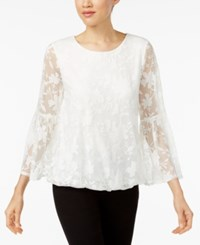 Alfani Burnout Bell Sleeve Top Created For Macy's Soft White