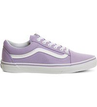 Vans Old Skool Canvas And Suede Trainers Lavender White