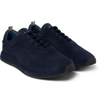 Officine Creative Race Suede Sneakers Blue