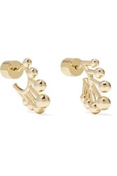 Jennifer Fisher Dna Huggie Gold Plated Hoop Earrings One Size