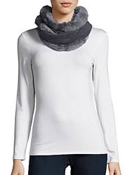 La Fiorentina Cashmere And Wool Blend Fur Infinity Scarf Ivory