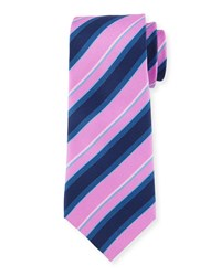 Multi Striped Silk Tie Purple Black Davidoff