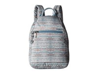 Hedgren Inner City Vogue Backpack Rfid Woven Print Backpack Bags Blue