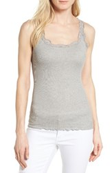 Rosemunde Women's Babette Lace Trim Tank Light Grey