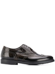 Fratelli Rossetti Brogue Detailing Lace Up Shoes Brown