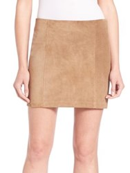 Polo Ralph Lauren Suede Mini Skirt Club Brown