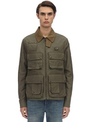 Belstaff Castmaster Waxed Cotton Jacket Sage Green