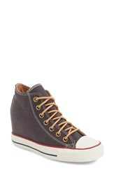 Women's Converse Chuck Taylor All Star 'Lux' Hidden Wedge High Top Sneaker Almost Black Biscuit Canvas