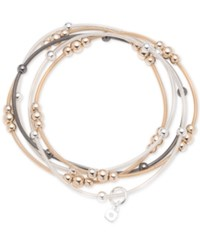 Nine West Tri Tone 5 Pc. Set Beaded Stretch Bracelets Multi