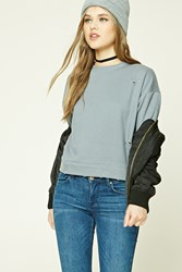 Forever 21 Distressed Boxy Sweatshirt