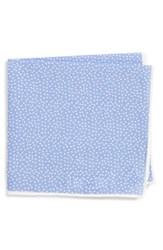 Southern Tide Sagamore Spots Cotton And Silk Pocket Square Blue