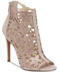 Jessica Simpson Gessina Embellished Peep Toe Evening Sandals Women's Shoes Nude Blush