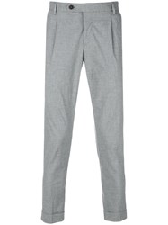 Jeckerson Tailored Fitted Trousers Grey