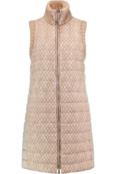 Missoni Crochet Knit And Quilted Shell Gilet Mushroom