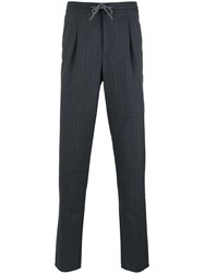 Brunello Cucinelli Pinstriped Straight Trousers Black