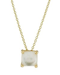 Ippolita 18K Rock Candy Mini Single Square Sliding Mother Of Pearl Pendant Necklace Women's
