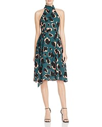 Elliatt Graphic Animal Print Tie Belt Midi Dress Multi