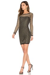 Nightcap Pyrite Mini Dress Metallic Gold