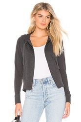 James Perse Classic Zip Up Hoodie Charcoal