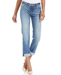 Kut From The Kloth Catherine Boyfriend Straight Leg Cuffed Jeans Fervent Wash