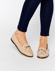 London Rebel Bar Loafers Nude Patent Green