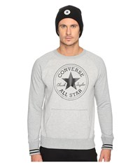 Converse Core Tipped Rib Crew Vintage Grey Heather Men's Clothing Gray