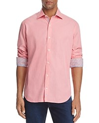 Tailorbyrd Lacombe Regular Fit Long Sleeve Button Down Shirt Coral
