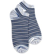 Missoni Striped Cotton Blend Socks Blue