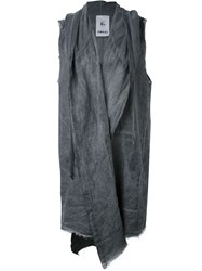 Lost And Found Rooms Sleeveless Cardigan Black