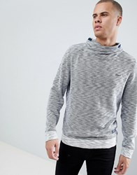 Esprit Funnel Neck Sweatshirt In Grey Marl Navy