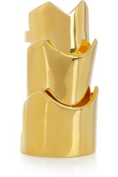 Eddie Borgo Hinged Gold Plated Ring