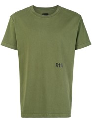 Rta Script Printed T Shirt Green
