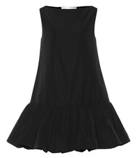 Valentino Cotton Blend Faille Minidress Black