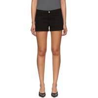Frame Black Cuffed 'Le Cut Off' Shorts