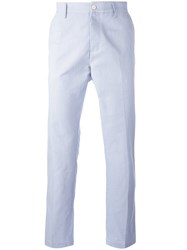 Massimo Piombo Mp Striped Slim Fit Chinos Blue