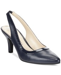 Karen Scott Gredta Slingback Pumps Only At Macy's Women's Shoes Navy