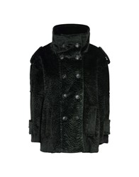 Department 5 Coats And Jackets Faux Furs Dark Green