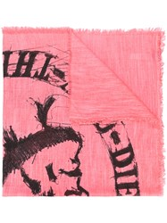 Diesel Swillot C Scarf Pink And Purple