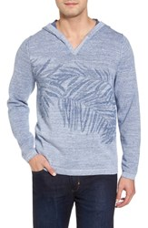 Tommy Bahama 'S Big And Tall Palmetto Hooded Pullover Galaxy Blue Heather