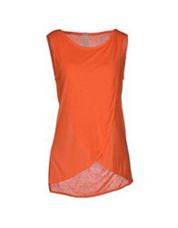 Pinko Tag T Shirts Orange
