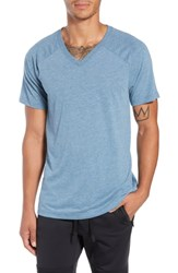 Alo Yoga Triumph Raglan V Neck T Shirt Denim Triblend