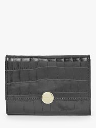 Coccinelle Olivia Leather Tri Fold Front Wallet Black