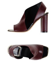 Celine Celine Footwear Sandals Women Maroon